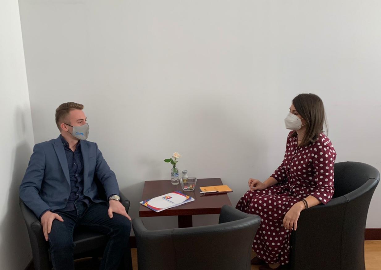 Остварена средба со пратеничката Моника Зајкова, една од најмладите во актуелниот собраниски состав