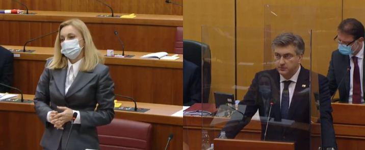Петир и Пленковиќ на тема Македонија и ЕУ во хрватскиот Сабор